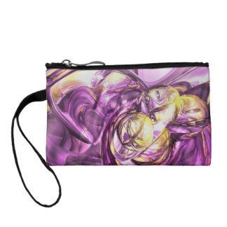 Violet Summer Abstract Coin Wallet