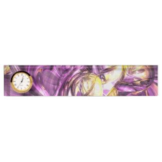 Violet Summer Abstract Desk Nameplates