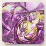 Violet Summer Abstract Drink Coaster