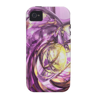 Violet Summer Abstract iPhone 4 Case-Mate Tough™ Case For The iPhone 4