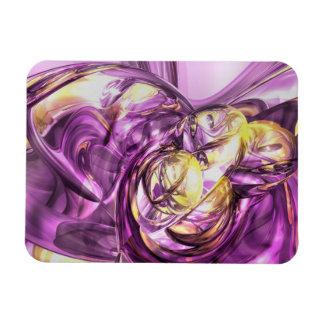 Violet Summer Abstract Large Magnet