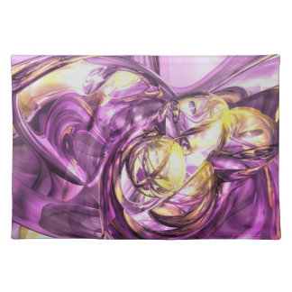 Violet Summer Abstract Placemats
