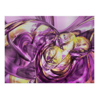 Violet Summer Abstract Poster