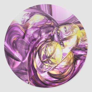 Violet Summer Abstract Sticker