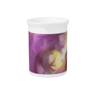 Violet Summer Pastel Abstract Pitcher