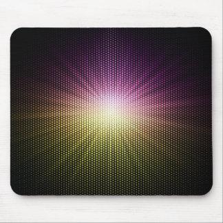 Violet sunlight over polka dot mouse pad