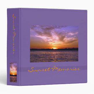 Violet Sunset Binder