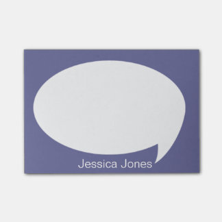 Violet Talk Bubble Rounded Personalized Post-it® Notes