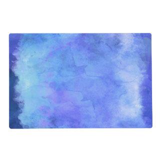 Violet Teal Blue Watercolor Texture Pattern Placemat