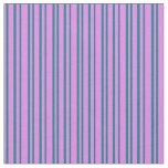 [ Thumbnail: Violet & Teal Colored Lines Fabric ]