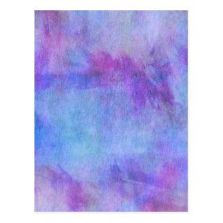 Violet Teal Purple Watercolor Background Postcard