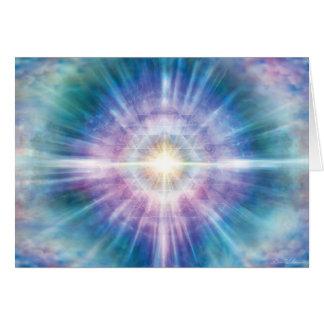 Violet Teal Radiance Card