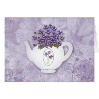 Violet Teapot Birthday Card