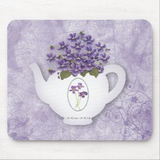 Violet Teapot Mousepad