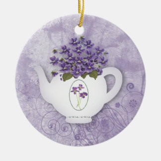 Violet Teapot Ornament