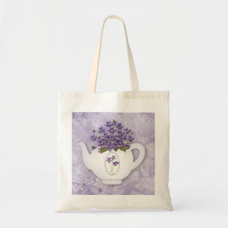 Violet Teapot Tote Bag