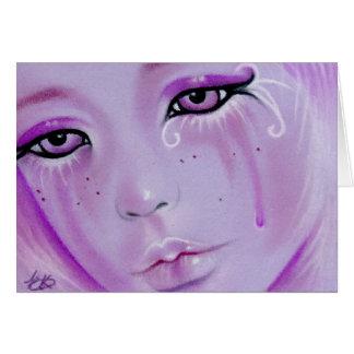 Violet Tears Sad Girl Card