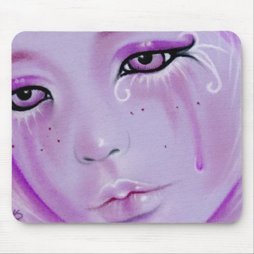 Violet Tears Sad Girl Mousepad