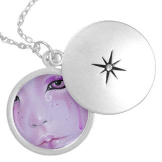 Violet Tears Sad Girl Necklace