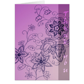 Violet Thank You Card