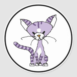 Violet the Cat Sticker (Meet the Mews)