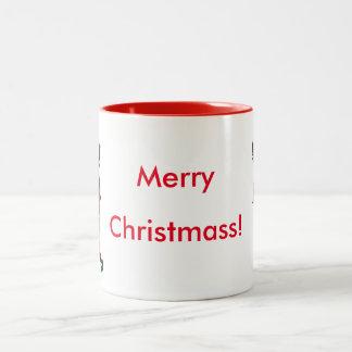 Violet the Elf Christmass Mug! Two-Tone Coffee Mug
