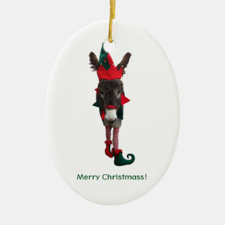 Violet the Elf Oval Ornament