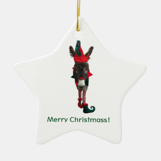Violet the Elf Star Ornament
