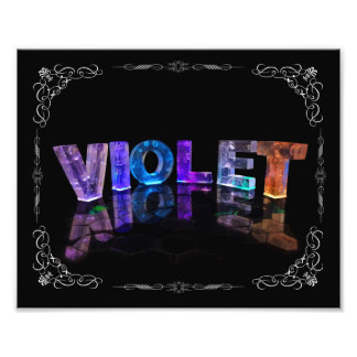 Violet  - The Name Violet in 3D Lights (Photograph Photo Print