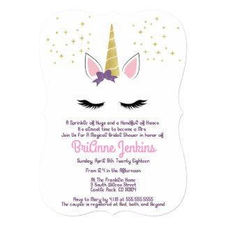 Violet the Unicorn Bridal Shower Invite