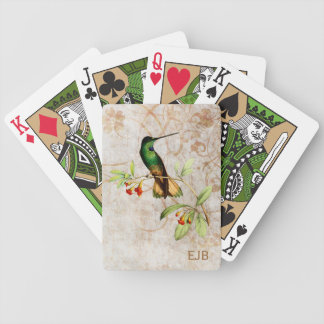 Violet Throated Hummingbird Playing Cards