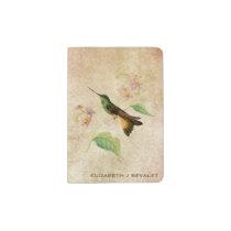 Violet Throated Starfrontlet Hummingbird Passport Holder