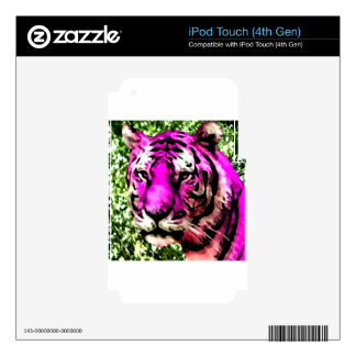 Violet Tiger iPod Touch 4G Decals