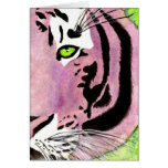 Violet Tiger Notecards Greeting Card