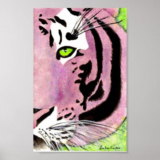Violet Tiger Poster
