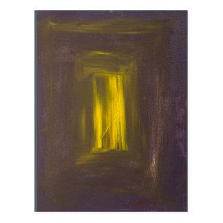 """Violet to Gold"" Albers Homage Postcard Print"
