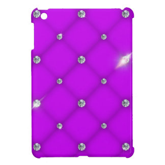 Violet to leather upholstery with diamonds cover for the iPad mini