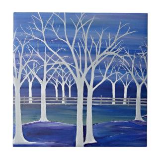 Violet Trees Tile