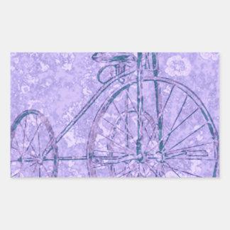 violet tricycle rectangular sticker