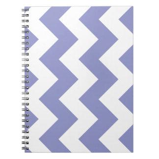 Violet Tulip Chevron Zigzag Notepad Notebook
