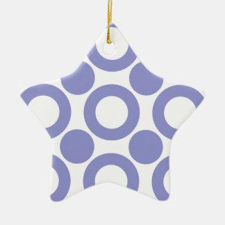Violet Tulip Dot 3 Christmas Ornaments