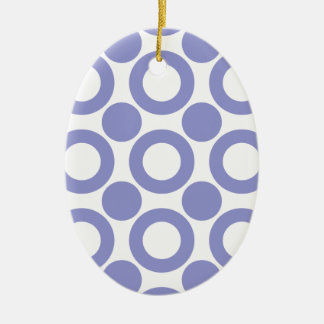 Violet Tulip Dot 3 Christmas Tree Ornaments