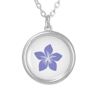 Violet Tulip Flower 9 Personalized Necklace
