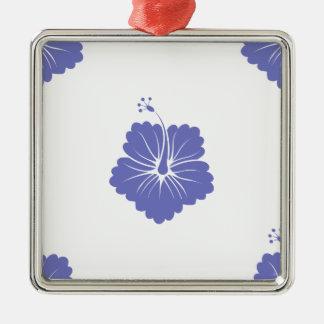 Violet Tulip Flower Pattern 3 Christmas Tree Ornaments