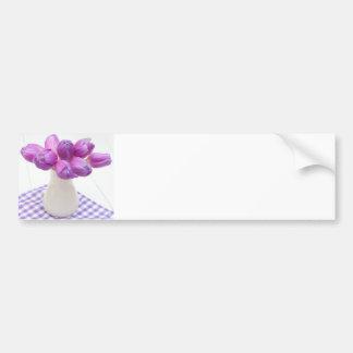 Violet Tulips Bumper Sticker