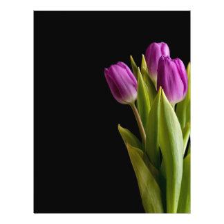 Violet tulips flyer