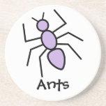 Violet Vector Ant Coasters