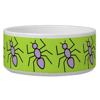 Violet Vector Ants (Grass Green Background) Dog Bowls