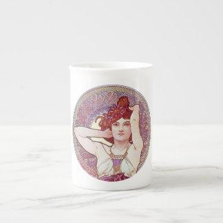 Violet Vintage Art Bone China Mug