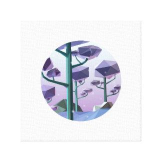 Violet vinter canvas print